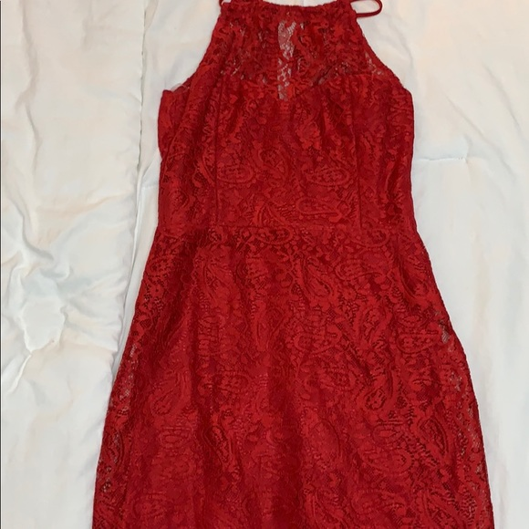 Charlotte Russe Dresses & Skirts - Red Floral Charlotte Russe mini dress
